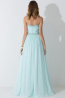 A-Line/Princess Strapless Floor-Length Chiffon Birdesmaid Dress with Beads