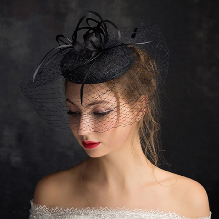 Women's Vintage Fascinator Bridal Hat Bridcage Wedding Veil