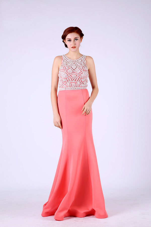 Trumpet/Mermaid Satin Floor Length On Sale Prom Dresses