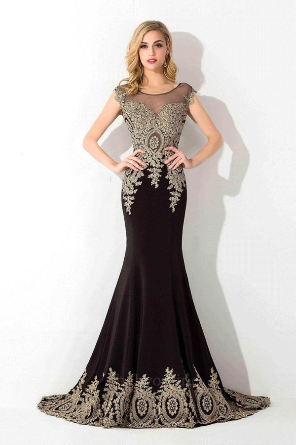 Trumpet/Mermaid Jersey Sweep Train Dress Evening Gown