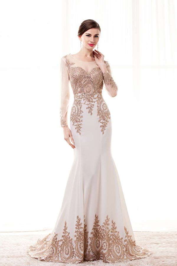 Trumpet/Mermaid Jersey Floor Length Long Dresses for Evening